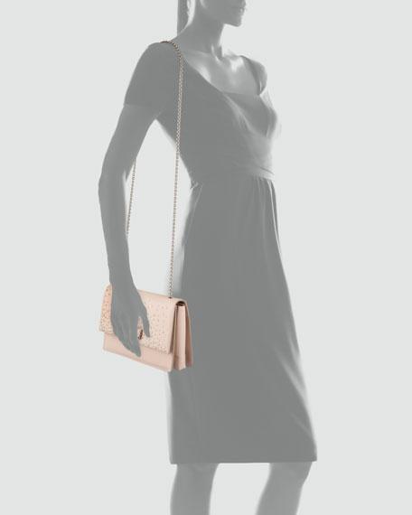 Ginny Studded Shoulder Bag, New Bisque