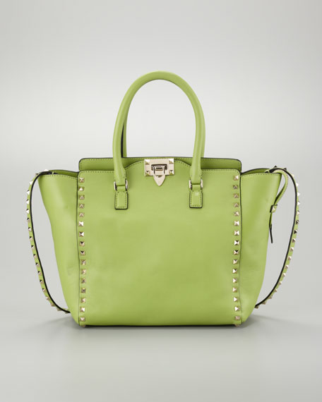 Rockstud Medium Tote Bag, Pop Apple
