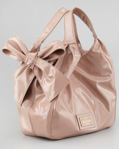 Medium Nuage Bow Tote, Noisette