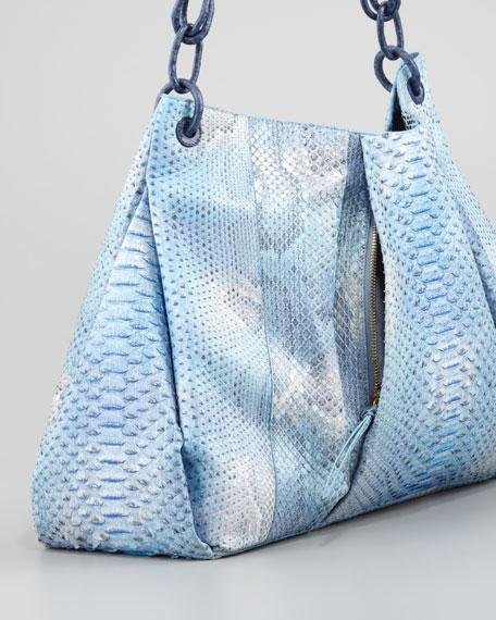 Crocodile & Python Tote, Blue