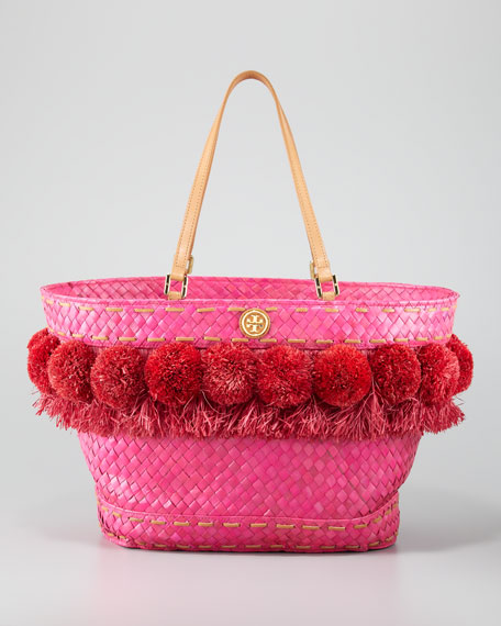 Beachy Norah Bucket Tote, Flame Red
