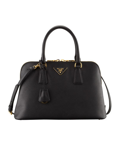 Prada Medium Saffiano Promenade Bag, Black (Nero)