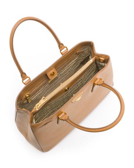 Saffiano Small Gardener's Tote Bag, Caramel (Carmello)