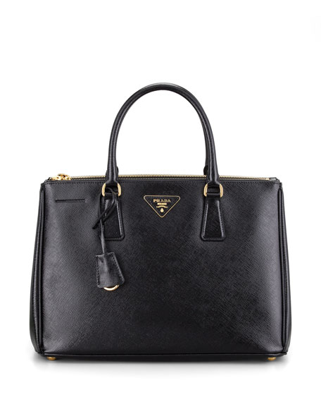 Saffiano Executive Small Tote Bag, (Black) Nero