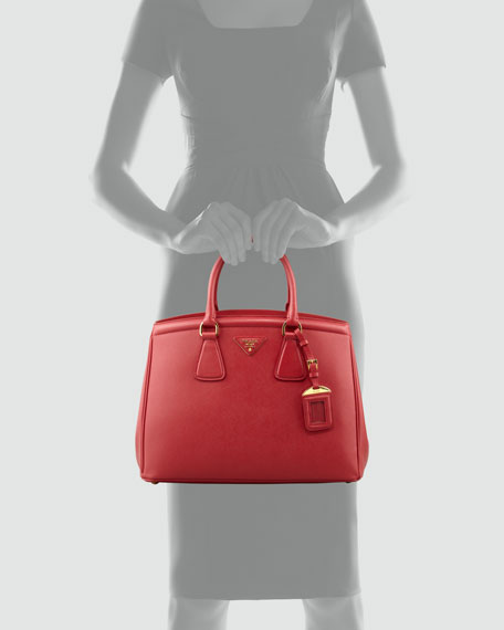 Saffiano Parabole Bag, Red
