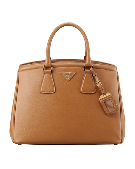 Saffiano Parabole Bag, Camel (Caramello)