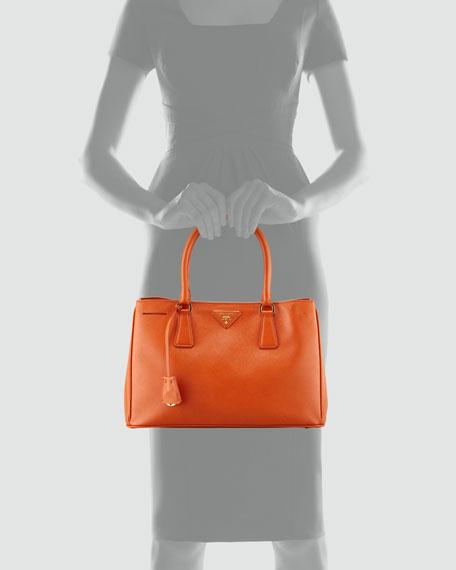 Saffiano Gardener's Tote Bag, Orange (Papaya)