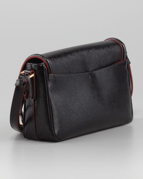 Saffiano Vernice Small  Shoulder Bag, Nero
