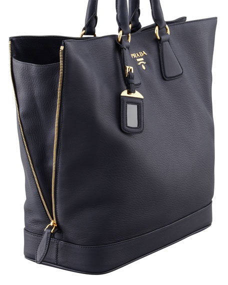Cervo Snap-Top Tote Bag, Baltico