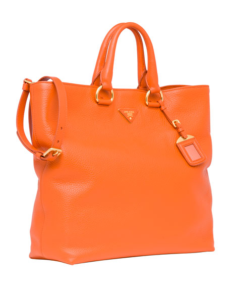 Daino Tote Bag, Orange (Papaya)