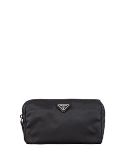 Prada Vela Cosmetic Bag, Black (Nero)