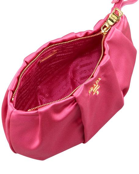 Satin Wristlet Bag, Fuchsia (Fuxia)