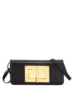 Tom Ford Natalia Black Calfskin East-West Shoulder Bag