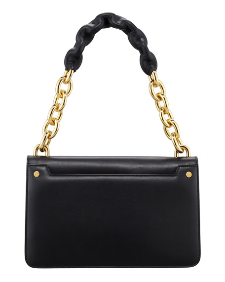 Maxi Chain Large Leather Shoulder Bag