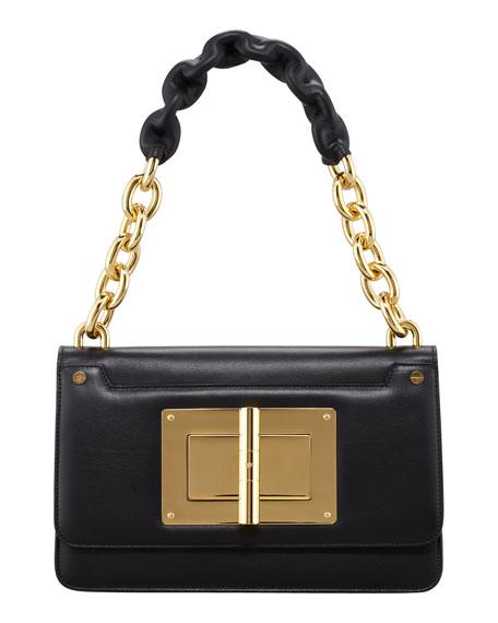 Maxi Chain Large Leather Shoulder Bag