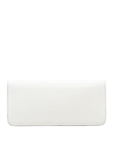 Natalia East-West Turnlock Leather Shoulder Bag, Ivory
