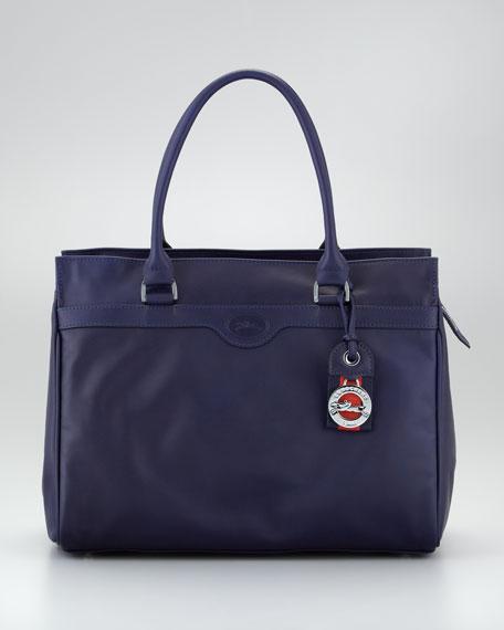 Au Sultan Zip-Top Tote Bag, Navy
