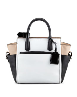 Reed Krakoff Atlantique Mini Tote Bag, White/Black/Nude