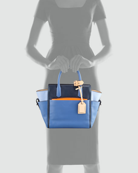 Atlantique Mini Tote Bag, Blue