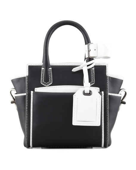 Atlantique Micro Bag, Black/White