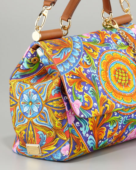 Miss Sicily Vibrant Canvas Print Bag