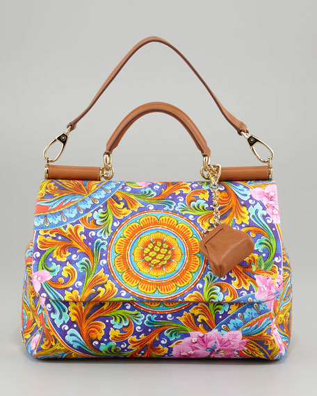 Miss Sicily Vibrant Canvas Print Bag