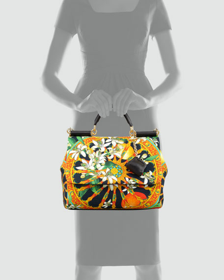 Miss Sicily Soft Canvas Print Bag