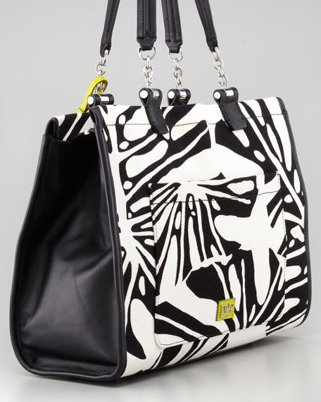 Lola Printed Canvas Tote Bag