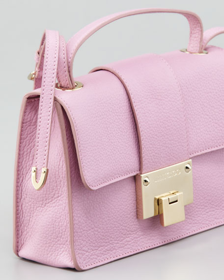 Rebel Leather Crossbody Bag, Peony