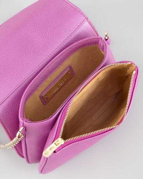 Shadow Metallic Crossbody Bag, Orchid