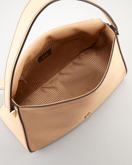Big Mama Zucca-Flap Large Shoulder Bag, Barley