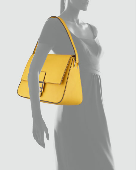 Big Mama Zucca-Flap Large Shoulder Bag, Chantilly