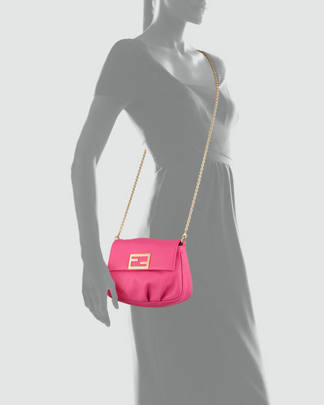 Fendista Pochette Crossbody Bag, Fuchsia