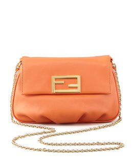 Fendi Fendista Pouchette Crossbody Bag, Orange