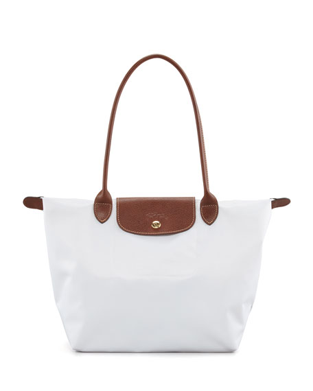 Le Pliage Shoulder Tote Bag, White