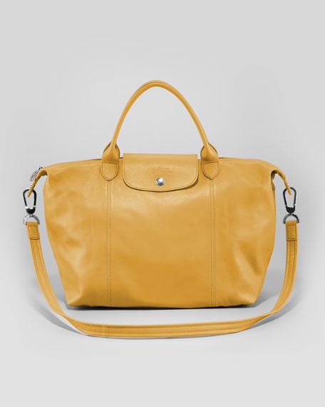 Le Pliage Cuir Medium Tote Bag, Sunshine