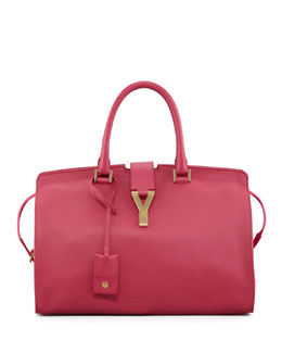 Saint Laurent Y Ligne Soft Leather Bag, Fuchsia