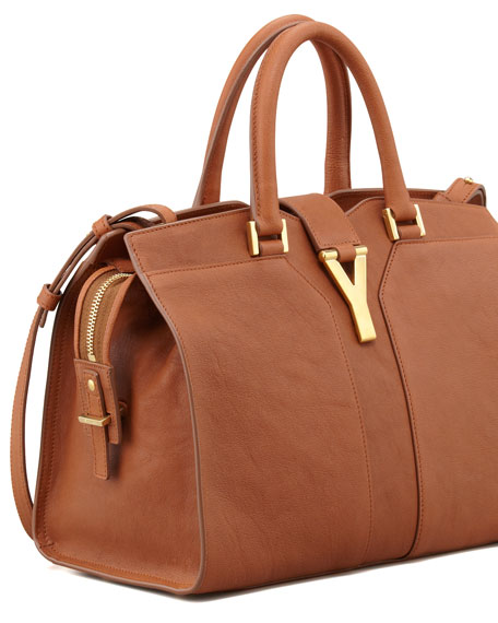 Y Ligne Mini Tote Bag, Brown