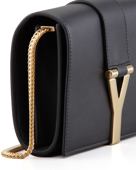 Mini Y Ligne Pochette Crossbody Bag, Black
