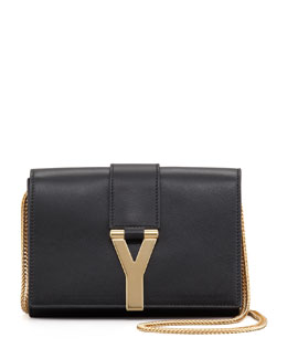 Saint Laurent Mini Y Ligne Pochette Crossbody Bag, Black