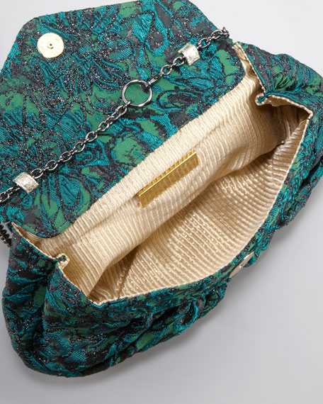 Diana Floral Silk Brocade Clutch Bag
