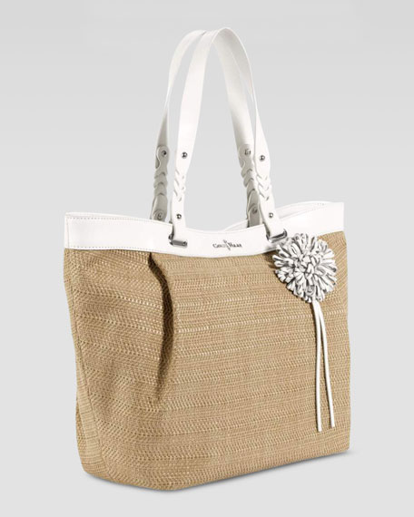 Bedford East-West Tote Bag, Ivory/Natural