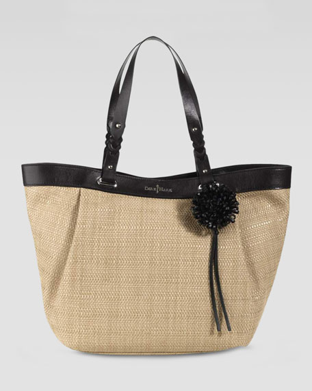 Bedford East-West Tote Bag, Black/Natural