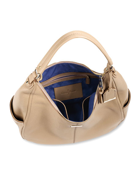 Village Rounded Hobo Bag, Sandstone