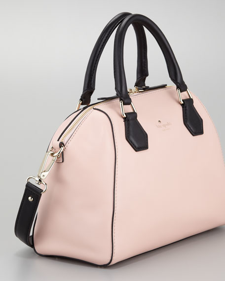 catherine street pippa satchel bag, pink champagne