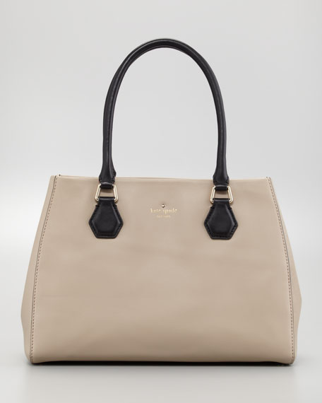 catherine st. louise tote bag, dark chino