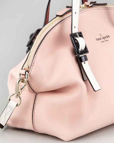 waverly street drew satchel, pink/champagne