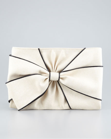 hope ave jesslyn clutch bag, crudo/black