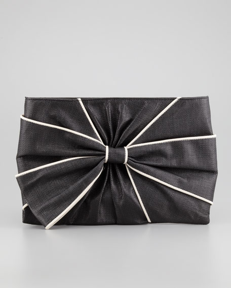 hope ave jesslyn clutch bag, black/cream