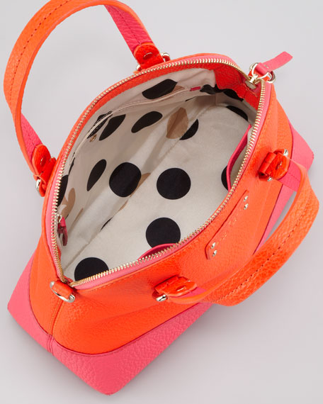 grove court maise satchel bag, orange/pink
